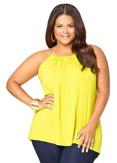 Chainlink Halter Tank From The Plus Size Fashion Community At www.VintageAndCurvy.com