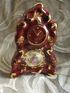 on hold weekend only  Limoges Miniature Clock  by KehingiVintage