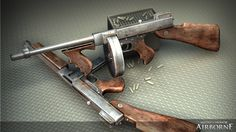 "Thompson submachine gun AKA the ""Tommy Gun"", the ""Chicago Typewriter"" and the ""Irish Sword"""