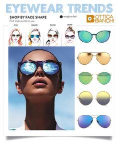 """Mirror Sunglasses"" by trendcrossing on Polyvore featuring moda, Le Specs, Spektre, Linda Farrow, Ray-Ban, Matthew Williamson e snglasses"