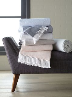 Simplicity itself inspired our Terzo throw and pillow.