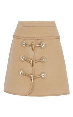 Felted Wool Toggle Mini Skirt by CARVEN for Preorder on Moda Operandi