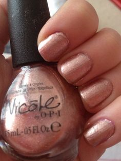 Rose gold nail Nichole by opi 'it starts with me' Nail Polish Hacks, Opi Nail Polish, Opi Nails, Manicures, Rose Gold Nail Polish, Natural Nail Polish, Popular Nail Designs, Beauty Hacks, Beauty Tips