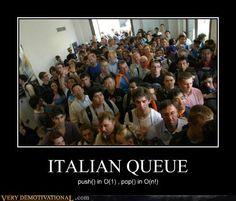 ITALIAN QUEUE