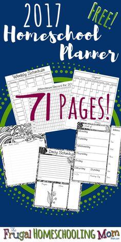 2017 Free Homeschool Planner from The Frugal Homeschooling Mom TFHSM