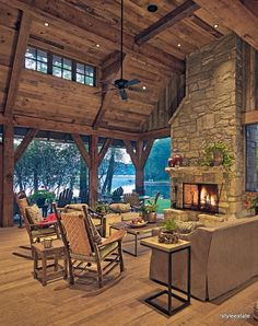 Family Lake Lodge (16 Images) - Style Estate - #AtTheLodge