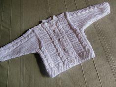 Gilet cardigan 1 an coloris blanc : Mode Bébé par logique
