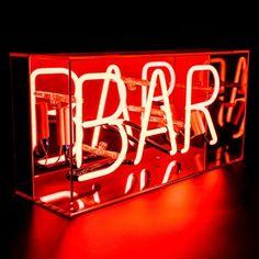 Neon BAR Box Sign   Graham & Green