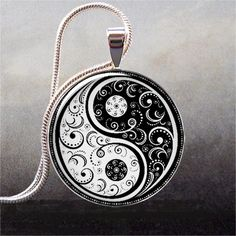 Yin Yang II art pendant resin pendant by thependantemporium, $8.95