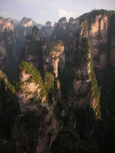 Zhangjiajie National Forest Park. Avatar's floating peaks inspiration..