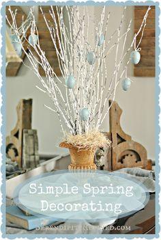 Serendipity Refined: Super Simple Spring Decor: DIY Egg Tree