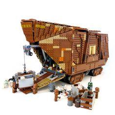 #Lego #sandcrawler with jawa minifigs for scale #StarWars