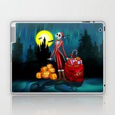 Halloween Jack santa claus Skellington LAPTOP & IPAD SKIN #laptop #skins #iPadminicase #accessories #cartoons #kids #holliday #christmas #halloweenskull #thenightmarebeforechristmas #jackskellington #halloweencostume #sally #pumpkins #halloweenpumpkin #tjackskelleton #pumpkinking #jackandsally #skellington #nightmarebeforechristmas