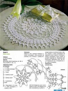"Photo from album ""Moje robotki on Yandex. Crochet Circle Pattern, Crochet Tablecloth Pattern, Crochet Doily Diagram, Crochet Lace Edging, Crochet Circles, Crochet Doily Patterns, Weaving Patterns, Crochet Shawl, Crochet Flowers"