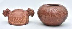 Ademar Ycoaracy. Cerâmica Marajoara. 23x11 e 21x14 cm