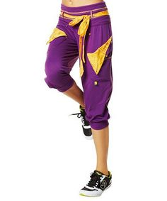 Love this Cut 'N Paste Purple Do It For The Fame Capri Pants on #zulily! #zulilyfinds