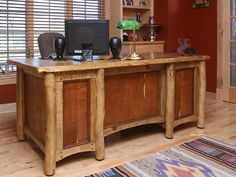 Mesquite Executive Library Desk by Master Craftsman Gerry Lamanski