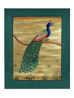 Miniature Painting on Paper of peacock, gift, home decor, Indian art, Indian handicraft by VirasatArtAndCraft on Etsy Peacock Painting, Fine Paper, Indian Art, Handicraft, Miniatures, Unique Jewelry, Handmade Gifts, Etsy, Vintage