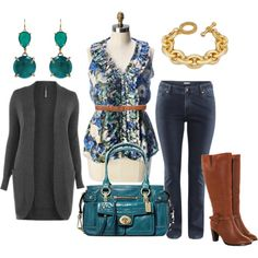 """Fall Color - Plus Size"" by alexawebb on Polyvore"