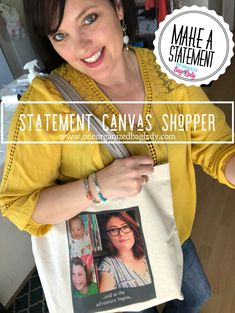 Thirty-One Gifts Statement Canvas Shopper-Photo personalized Gifts #oneorganizedbaglady #gifts #giftsforfriends #giftsformom #giftsforher #personalizedgifts #personalized #thirtyone #thirtyonegifts