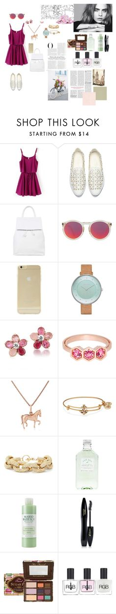 """""""I'm the kind of person who likes a relationship from a friendship"""" by karina-fiestisova ❤ liked on Polyvore featuring Topshop, Le Specs, Sonix, Skagen, Carolee, Roule & Company, Gemma J, Alex and Ani, Slate & Willow and Mario Badescu Skin Care"""