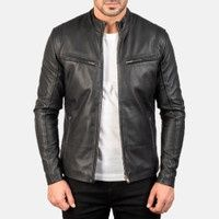 Black Leather Motorcycle Jacket, Men's Leather Jacket, Vintage Leather Jacket, Biker Leather, Lambskin Leather, Leather Men, Leather Jackets, Real Leather, Motorcycle Vest