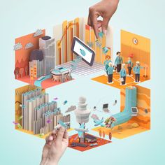 great isometric paper infograph