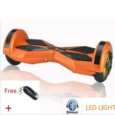 This is the Orange-Bluetooth-Hoverboard from HoverWheelsPro. These electric #hoverboards come in a variety of colors including green, blue, red, black, purple, pink, orange and multi-colored. You get free ground shipping on all orders. #hoverboard