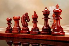 Valentine Wows -- Combination of stunning red and elegant white--these wooden chess sets are perfect for an urban home. View more designs-> http://www.chessbazaar.com/chess-pieces/luxury-chess-pieces.html