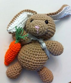 Crochet Bunny with Carrot Amigurumi  Easter Basket by ColbyzCorner, $25.00