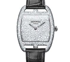 """The Hermes Sertie Neige Watch; essentially means """"snowflake encrusted""""..for how the diamonds are randomly and uniquely spaced.  This one is officially on my Dreamlist."""