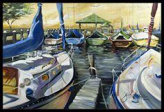 Seven Boats Sailboats Indoor or Outdoor Mat 18x27 JMK1075MAT