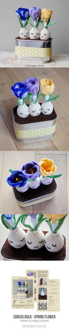 Crocus Bulb - Spring Flower Amigurumi Pattern