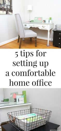 5 tips for setting up a comfortable home office – Green With Decor, – Home Office Wallpaper Home Office Setup, Home Office Chairs, Office Decor, Office Ideas, Desk Ideas, Office Organization Tips, Office Bookshelves, Office Wallpaper, Funky Home Decor