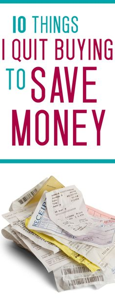 SAVING MONEY can be as easy as buying less! Are you wasting money on these silly purchases without thinking about it?