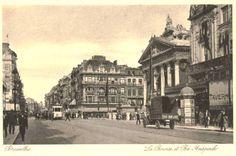 La Bourse et le Boulevard Anspach.