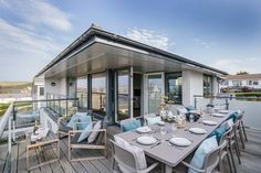 The large balcony at Rosemar is perfect for enjoying a spot of al fresco dining.