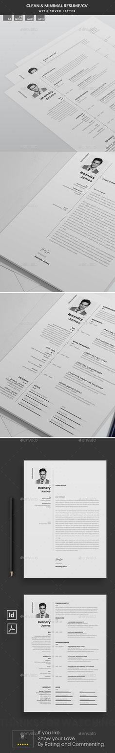Resume #minimal #cover letter Download : https://graphicriver.net/item/resume/21568643?ref=pxcr