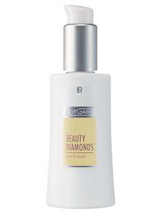 Zeitgard Beauty Diamonds Intensiv Serum. Koncentrerad textur med en lipo-vitamincocktail. En effektiv kombination av verksamma ämnen förbereder huden och stödjer dess egna regenerering. Ett innovativt hexapaptid stöjder hudens skyddssystem. Den mjuka och smidiga krämen absorberas snabbt och ger en skön känsla av välmående. Ett extrakt från brunalger och veteprotein har en uppstramande effekt på huden. Tensine är en aktiv subsans baserad på veteprotein.