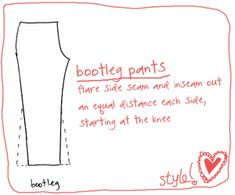 Pants Styling: Learn how to alter your patterns « Sew,Mama,Sew! Blog