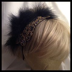 A personal favorite from my Etsy shop https://www.etsy.com/listing/231387554/womens-gold-black-beaded-applique-fur
