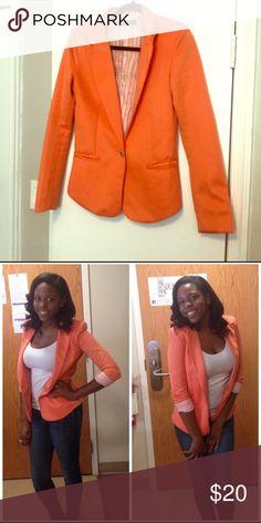 Zara Women Orange Blazer Zara Women Orange blazer Zara Jackets & Coats Blazers