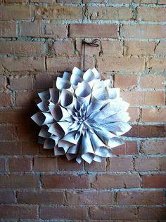 Handmade Fall Decor Book Page Wreath