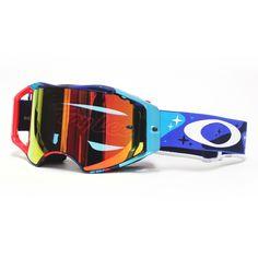 Oakley Airbrake TLD Cosmic Camo RWB Iridium Goggles