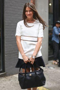 BAZAAR's Amanda Weiner in an Alexander Wang top and Chanel bag, Resort 2014 - HarpersBAZAAR.com
