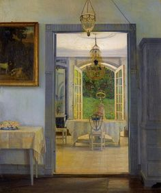 Georg Nicolaj Achen - Interior with Afternoon Sun