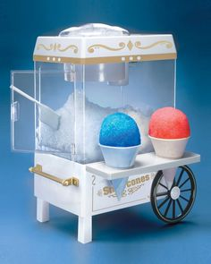 Shop for Nostalgia Vintage Collection Snow Cone Maker & Shaved Ice Storage by Nostalgia Electrics at ShopStyle. Specialty Appliances, Small Appliances, Kitchen Appliances, Vintage Appliances, Cool Kitchen Gadgets, Cool Kitchens, Kitchen Inventions, We All Mad Here, Snow Cone Machine
