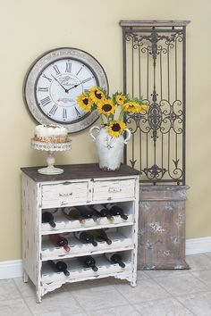 Re-purpose an old dresser as a buffet/wine rack,  Go To www.likegossip.com to get more Gossip News!