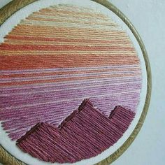 "336 Likes, 15 Comments - Chloe Albin (@hellochloemarie.embroidery) on Instagram: ""trying something new (there's always room for more mountain love!)"""