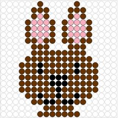 Rabbit perler bead pattern